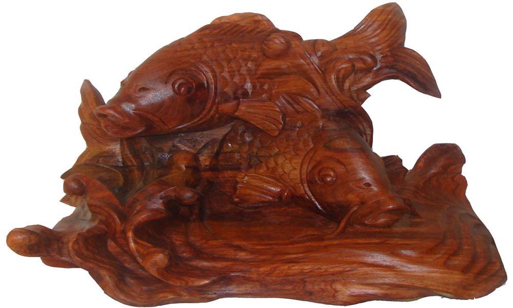 Tượng gỗ Cá Chép