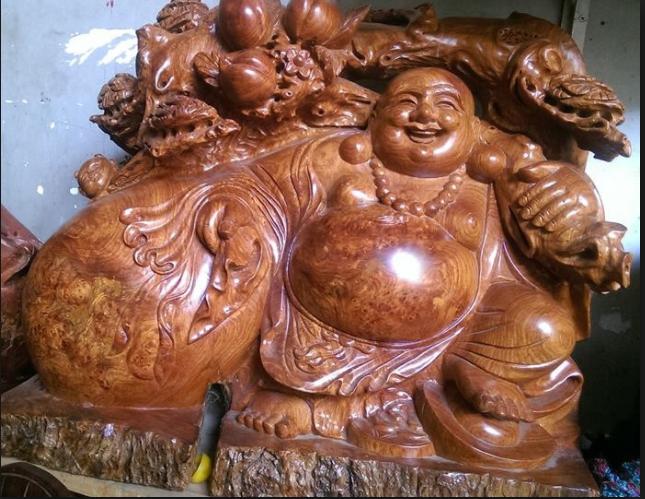 Tượng gỗ Di Lạc