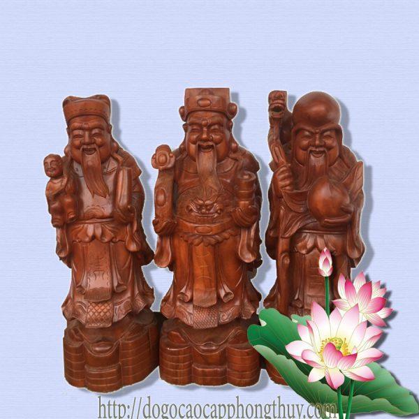 Tượng gỗphong thủy đẹp Tam Đa