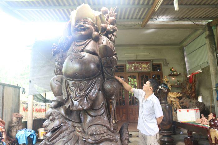 Mẫu tượng gỗ Di Lặc đẹp
