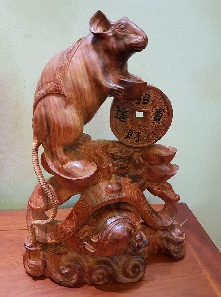Tượng gỗ 12 con giáp